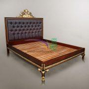 PRINCE GOLD BROWN BED MAHOGANY