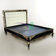 SHARTE BLACK GOLD BED MAHOGANY