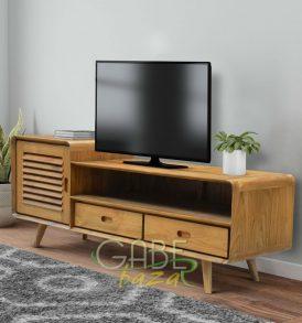 Buffet TV Vintage Kayu Jati 2 Laci