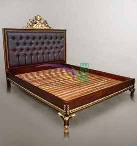 PRINCE GOLD BROWN BED MAHOGANY