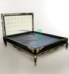 SHARTE BLACK GOLD BED MAHOGANY